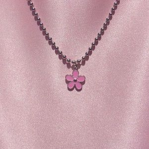 y2k flower ball chain necklace 🌸